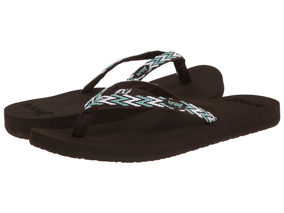 Reef - Ginger Drift (Brown/Aqua/White) Women's Sandals