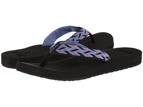 Reef - Mid Seas (Black/Blue) Women's Sandals