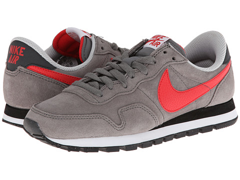 Nike - Air Pegasus 83 Leather (Light Ash/Anthracite/Light Ash Grey/Action Red) Men