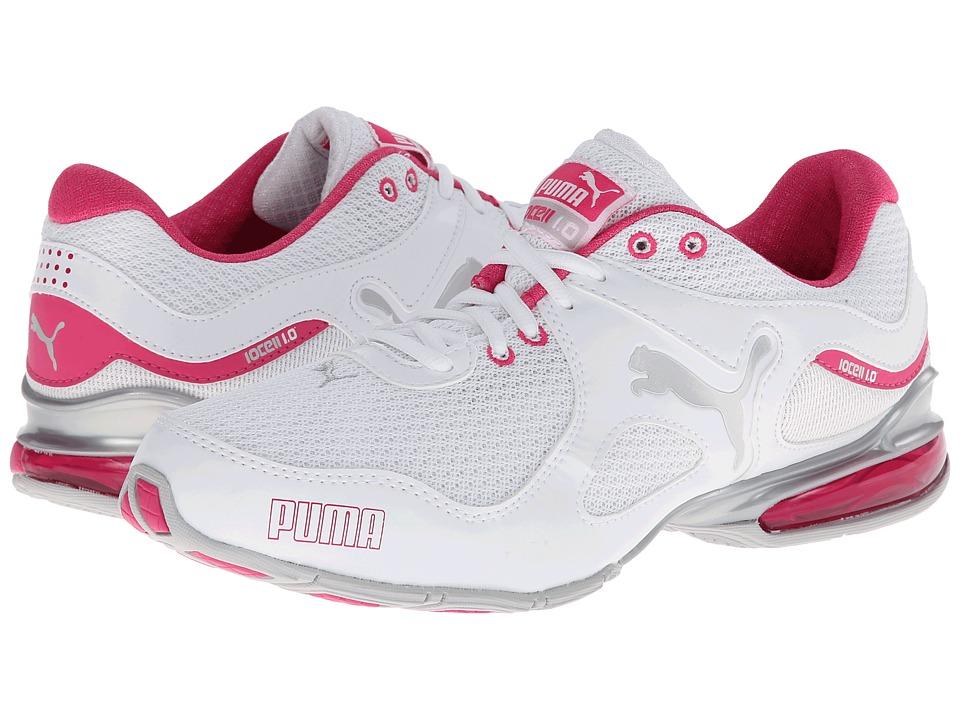 PUMA - Cell Riaze TTM (White/Fuchsia Pruple) Women's Shoes