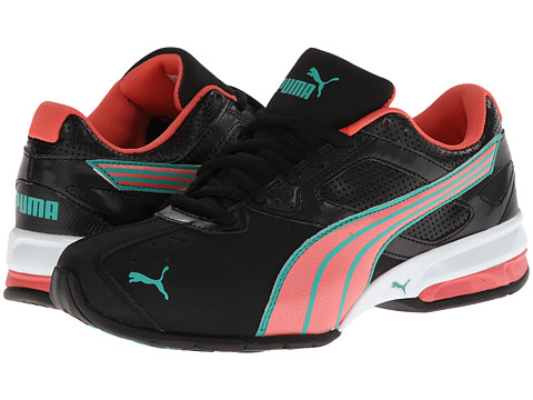 PUMA - Tazon 5 NM (Black/Dubarry/Pool Green) Women's Shoes