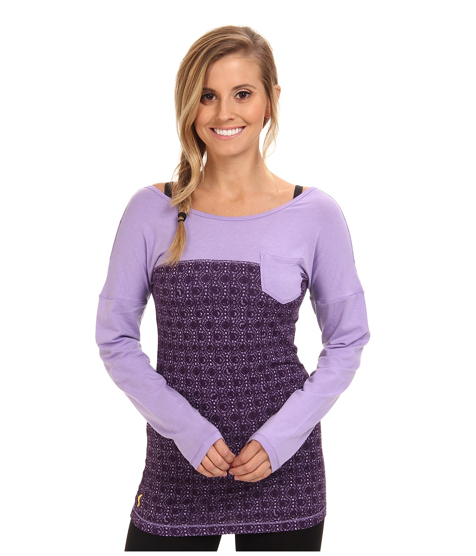Lole - Karuna L/S Top 2 (Ortensia Gem) Women's Long Sleeve Pullover
