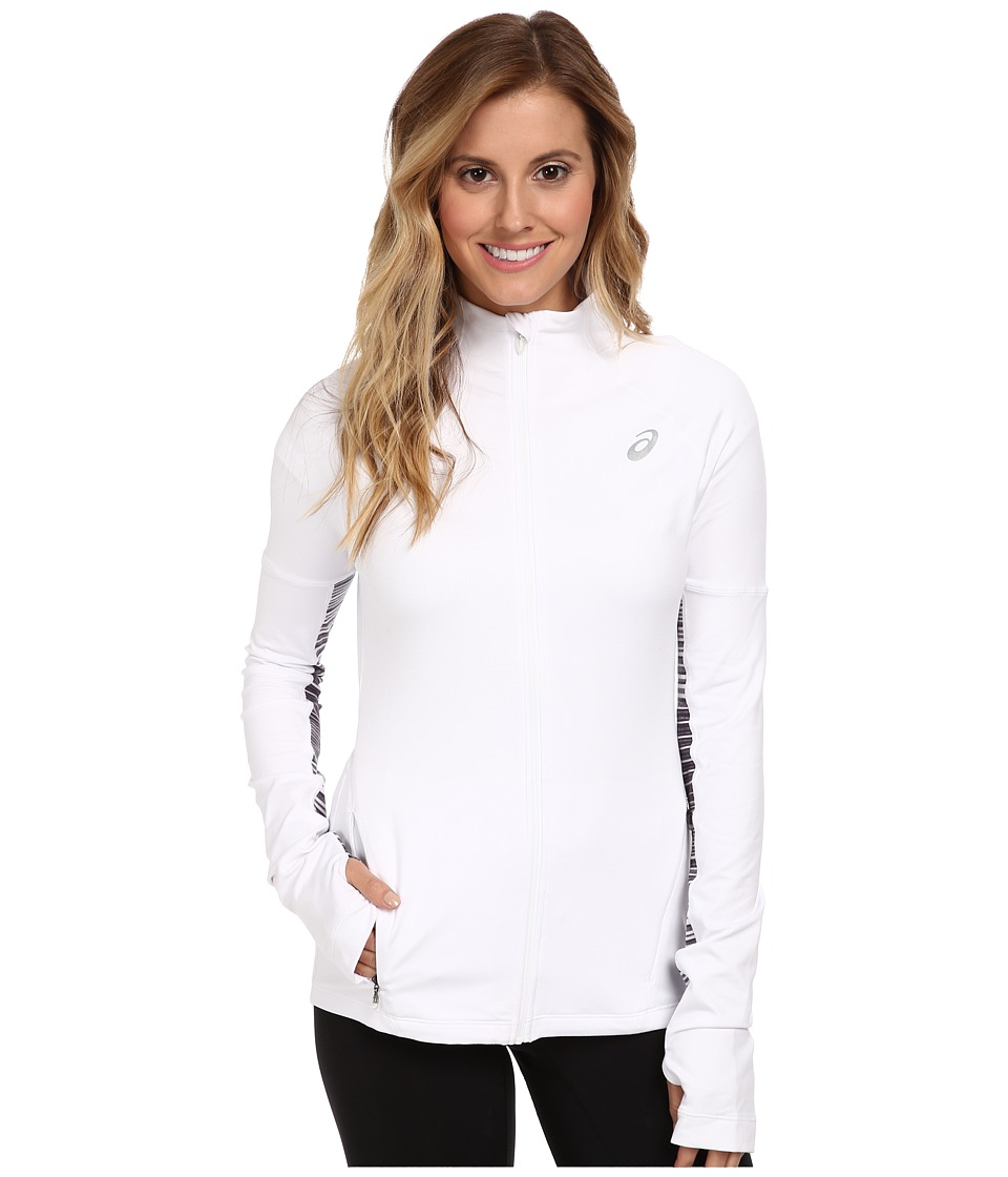 ASICS - Thermopolis LT Full Zip (White) Women's Long Sleeve Pullover