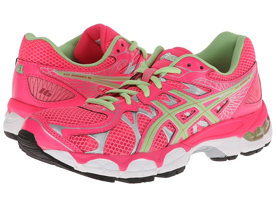 ASICS Kids - Gel-Nimbus 16 GS (Little Kid/Big Kid) (Hot Pink/Mint/Lightning) Girls Shoes