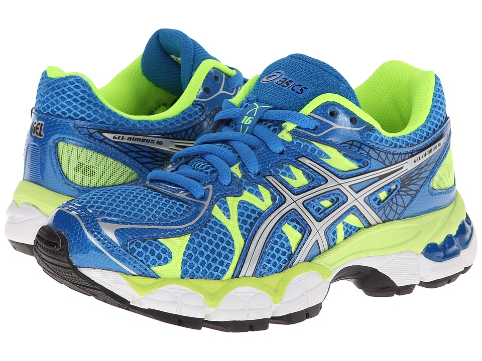 ASICS Kids - Gel-Nimbus 16 GS (Little Kid/Big Kid) (Island Blue/Lightning/Lime) Boys Shoes
