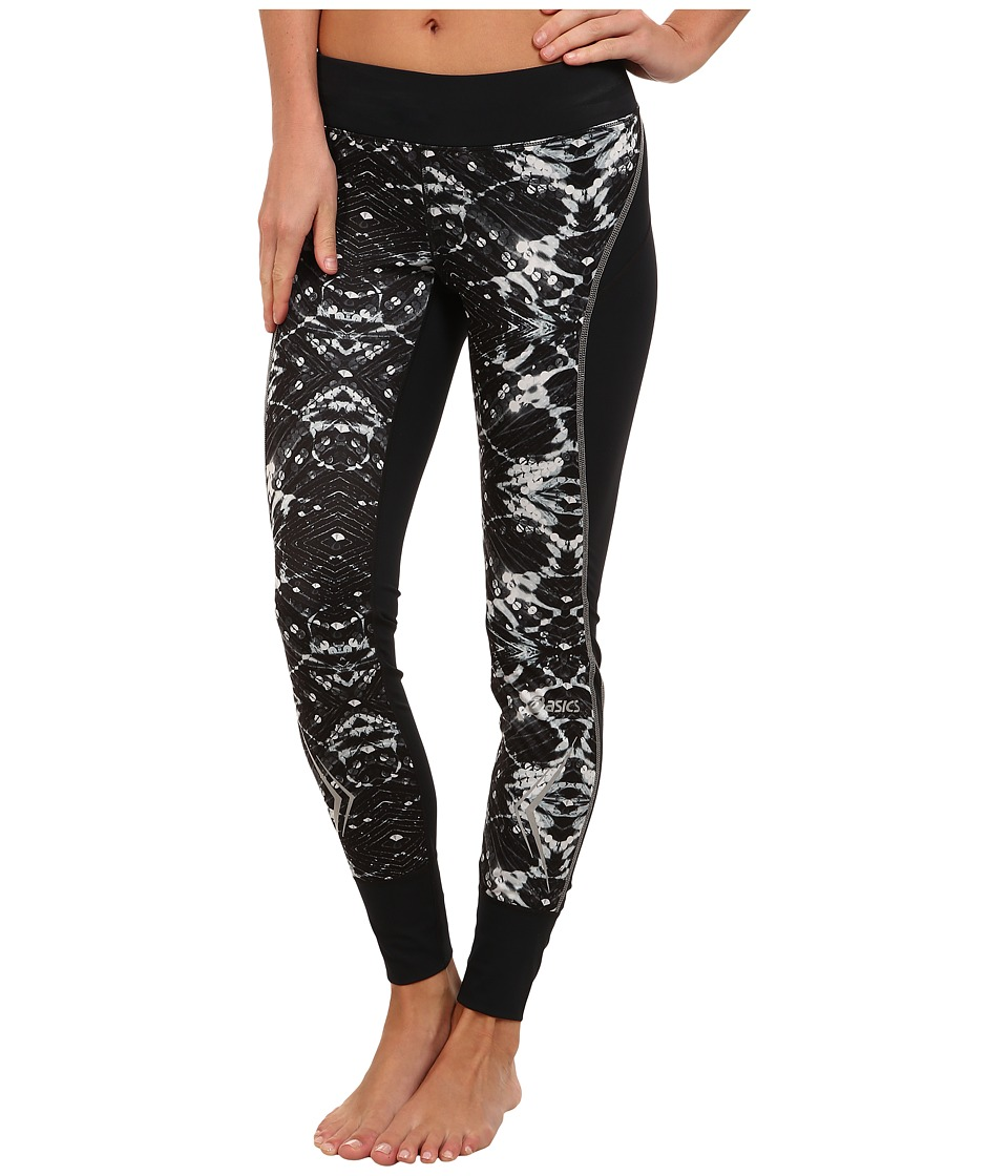 ASICS - Lite-Show Tight (Black/Sequin Print) Women's Workout