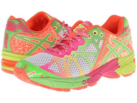 ASICS Kids - Gel-Noosa Tri 9 GS (Little Kid/Big Kid) (White/Lime/Hot Pink) Girls Shoes