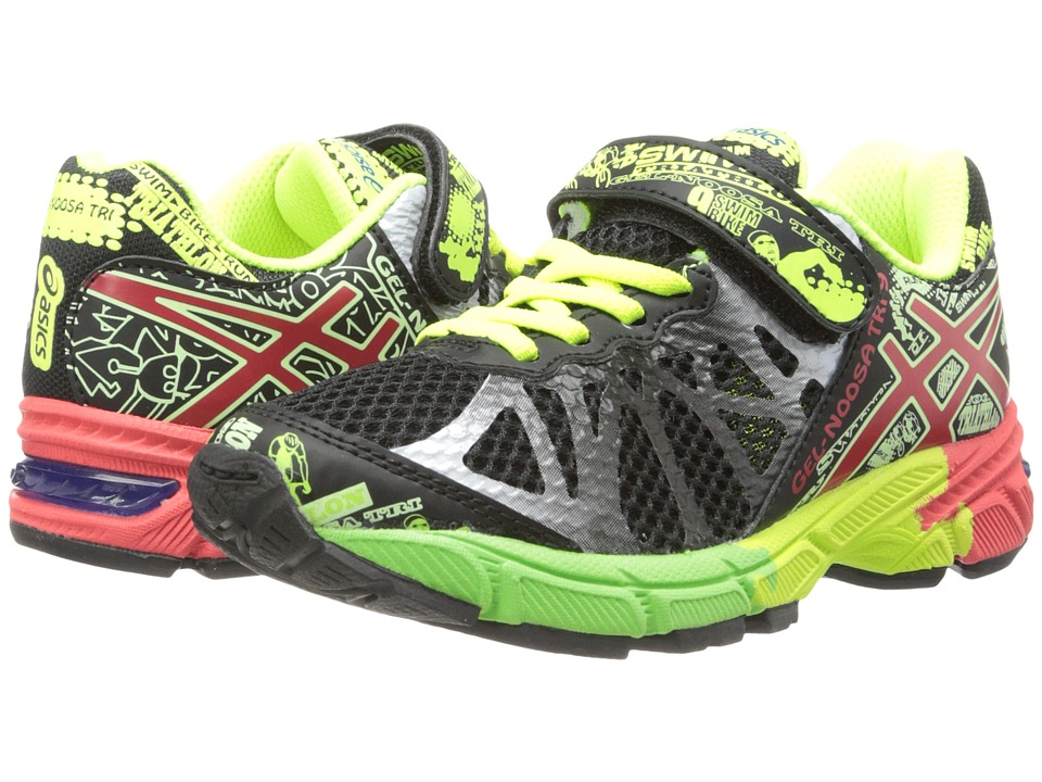 ASICS Kids - Gel-Noosa Tri 9 PS (Toddler/Little Kid) (Black/Red/Flash Yellow) Boys Shoes