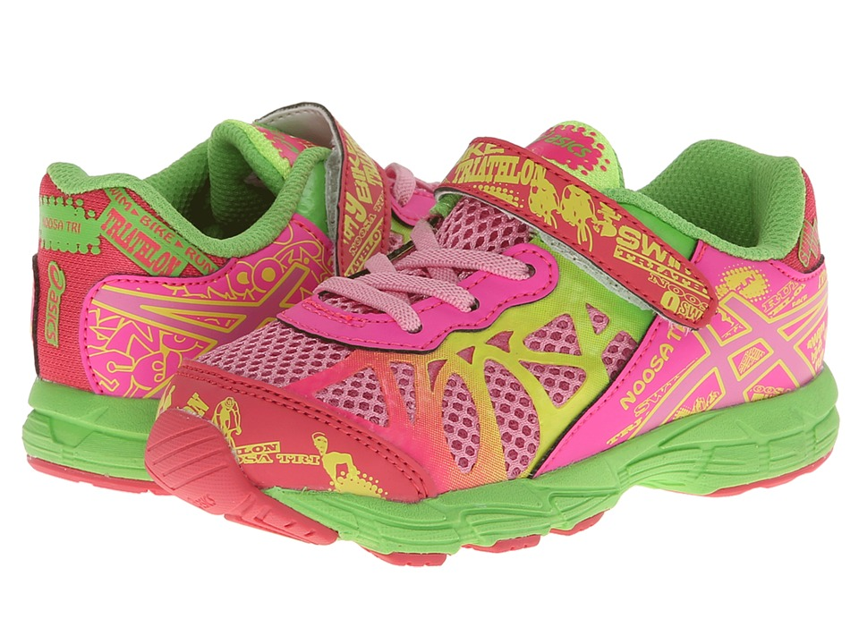 ASICS Kids - Noosa Tri 9 TS (Toddler) (Petal Pink/Hot Pink/Apple Green) Girls Shoes