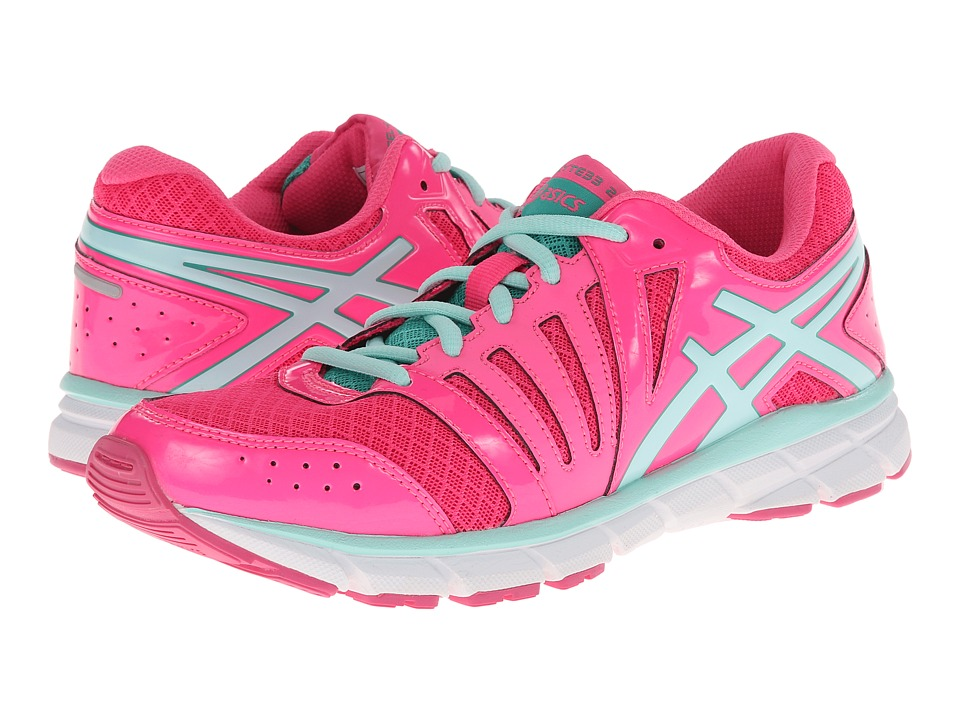 ASICS Kids - Gel-Lyte33 2 GS (Little Kid/Big Kid) (Hot Pink/Ice Blue/Emerald) Girls Shoes