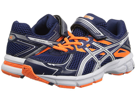 ASICS Kids - GT-1000 2 PS (Toddler/Little Kid) (Navy/White/Flash Orange) Boys Shoes