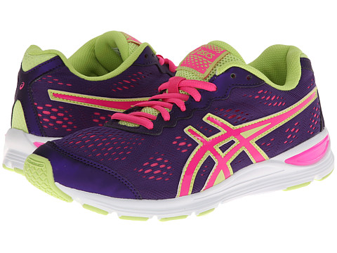 ASICS Kids - Gel-Storm GS (Little Kid/Big Kid) (Purple/Hot Pink/Sharp Green) Girls Shoes