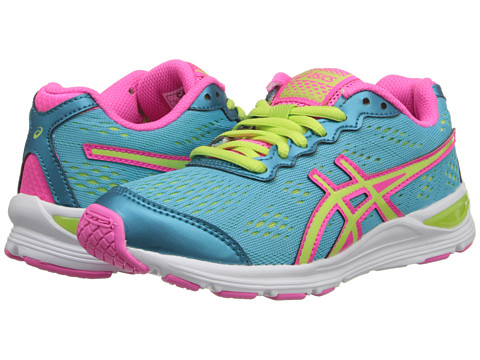 ASICS Kids - Gel-Storm GS (Little Kid/Big Kid) (Turquoise/Sharp Green/Hot Pink) Girls Shoes