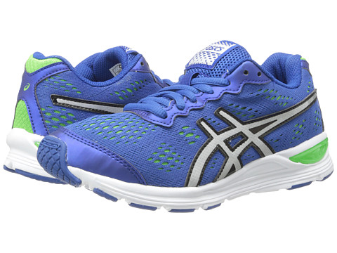 ASICS Kids - Gel-Storm GS (Little Kid/Big Kid) (Royal/Lightning/Green) Boys Shoes