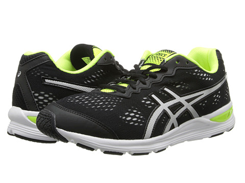 ASICS Kids - Gel-Storm GS (Little Kid/Big Kid) (Black/Lightning/Flash Yellow) Boys Shoes
