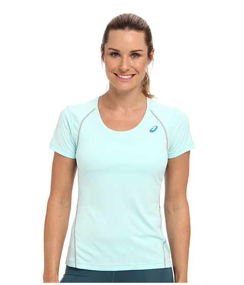 ASICS - Lite-Show Favorite Short Sleeve (Crystal Blue) Women's T Shirt