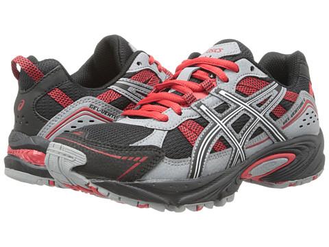 ASICS Kids - Gel-Venture 4 GS (Little Kid/Big Kid) (Black/White/Red) Boys Shoes