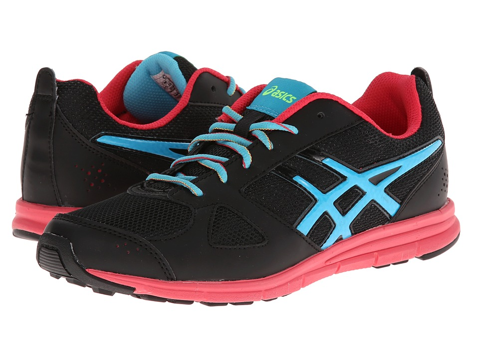 ASICS Kids - Lil' Muse Fittm (Little Kid/Big Kid) (Black/Turquoise/Red) Girls Shoes