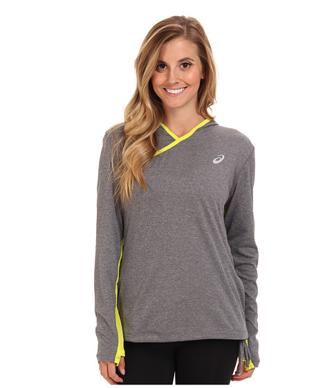 ASICS - PR Hoody (Heather Iron/Electric Lime) Women's Clothing