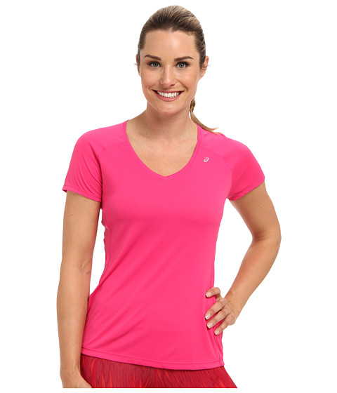 ASICS - Favorite Short Sleeve Top (Magenta) Women