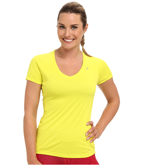 ASICS - Favorite Short Sleeve Top (Electric Lime) Women's Short Sleeve Pullover