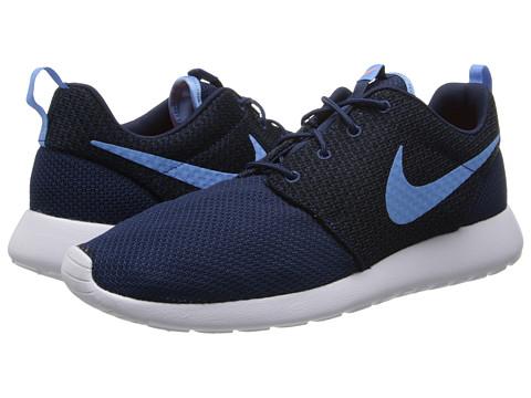 Nike - Roshe Run (Midnight Navy/Total Orange/White/University Blue) Men