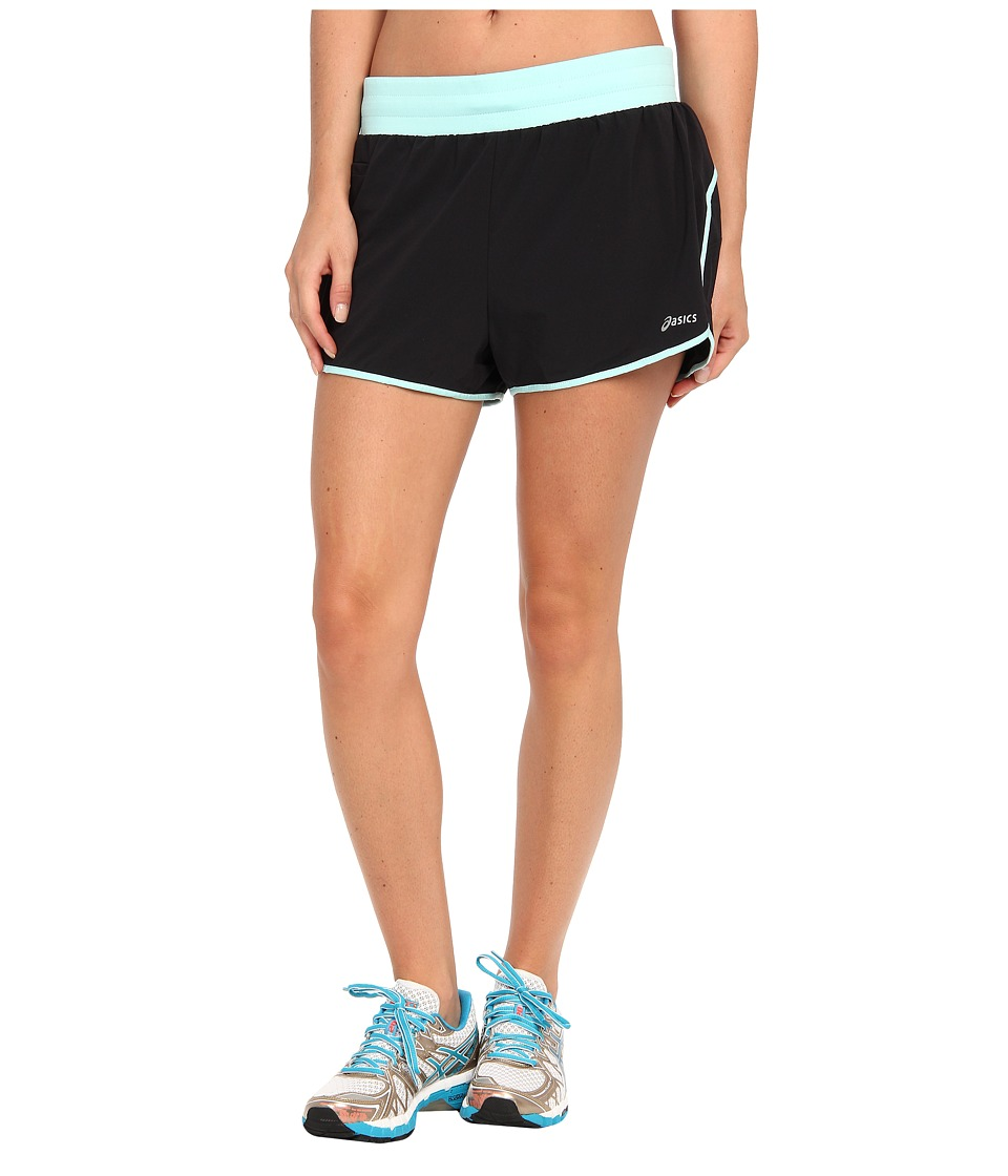 ASICS - Distance Short (Black/Crystal Blue) Women's Shorts