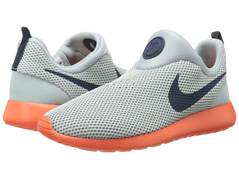 Nike - Roshe Run Slip On (Silver Wing/Team Orange/Cool Grey/Obsidian) Men