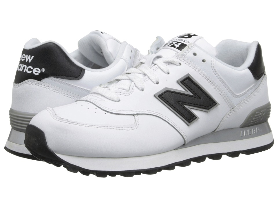 New Balance Classics - NB574 (White/Black) Men's Classic Shoes