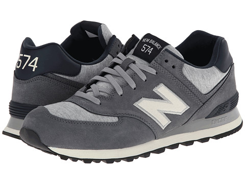 New Balance Classics - ML574 - Pennant Collection (Grey/White) Men's Shoes