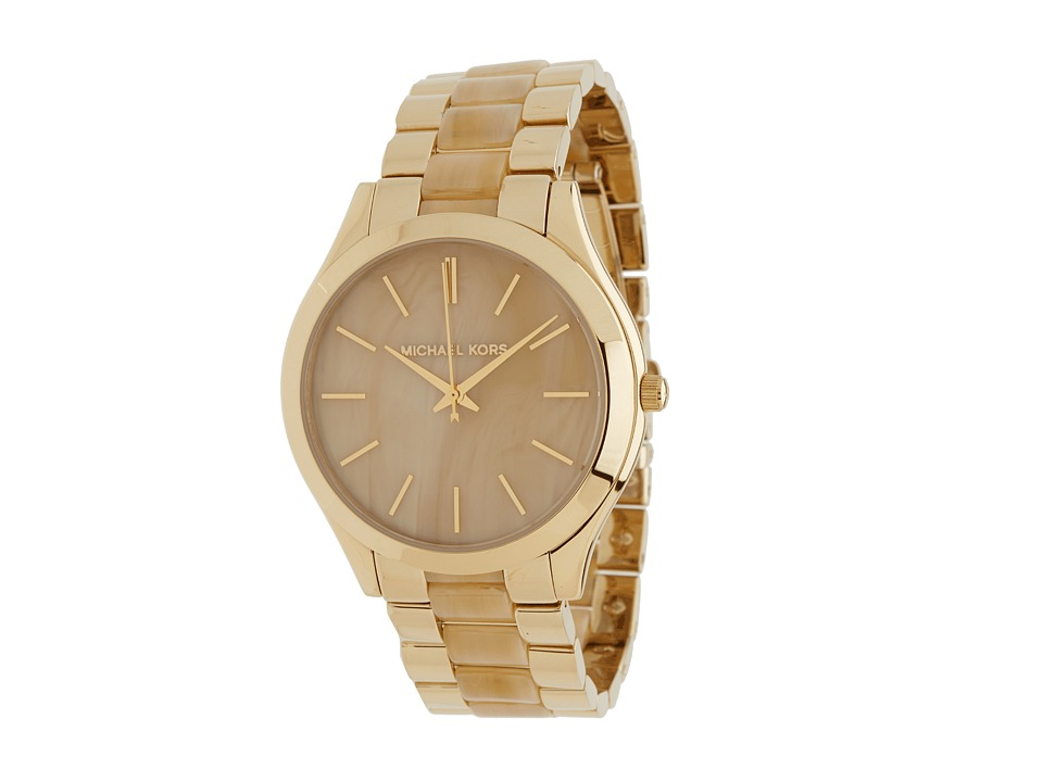 Michael Kors - MK4285 - Slim Runway (Horn/Gold) Watches