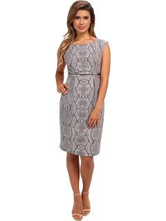 SALE! $59.99 - Save $68 on Calvin Klein Pleated Belted Animal Print Sheath Dress (Multi) Apparel - 53.13% OFF $128.00