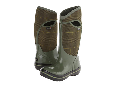 Bogs - Plimsoll Prince of Wales Tall (Olive) Women