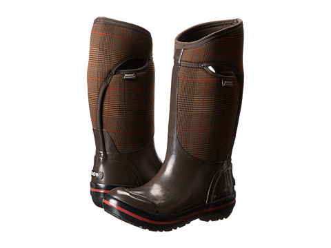 Bogs - Plimsoll Prince of Wales Tall (Chocolate) Women's Pull-on Boots
