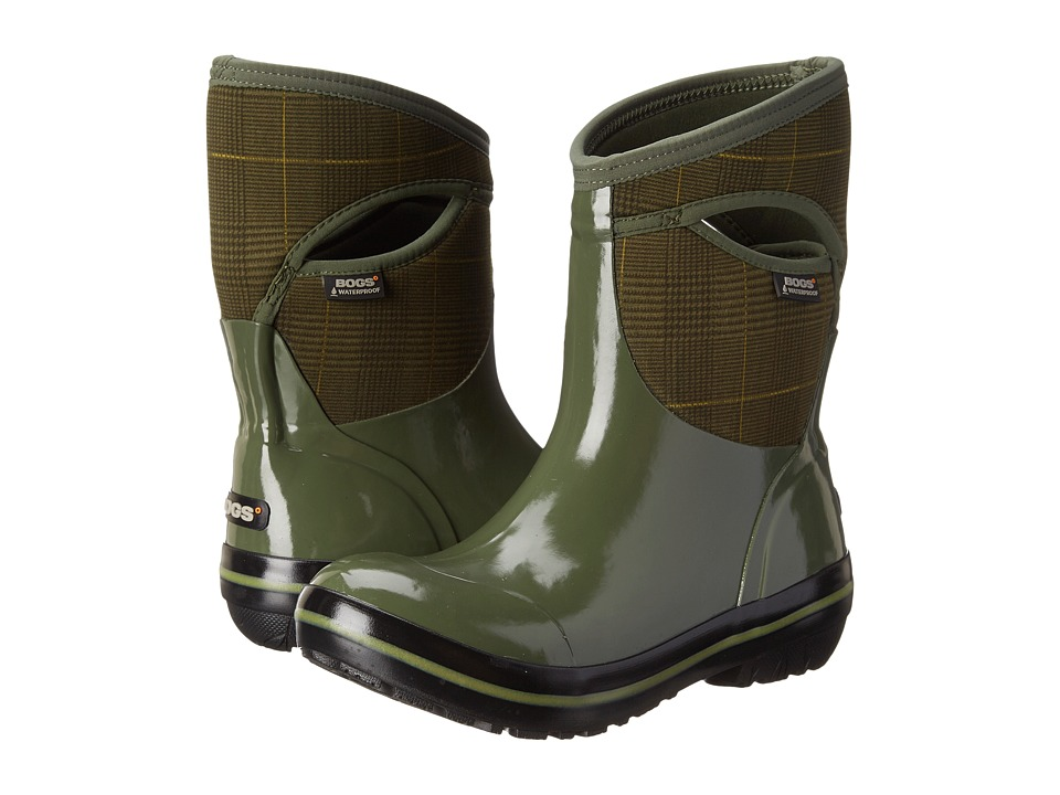 Bogs - Plimsoll Prince of Wales Mid (Olive) Women