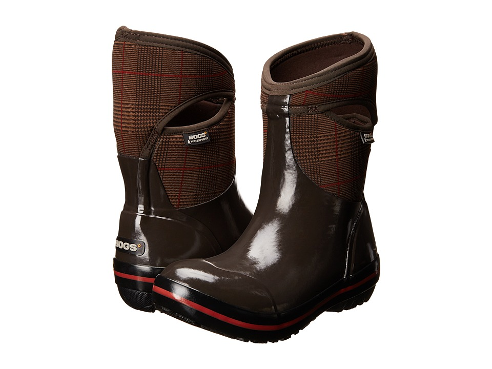 Bogs - Plimsoll Prince of Wales Mid (Chocolate) Women