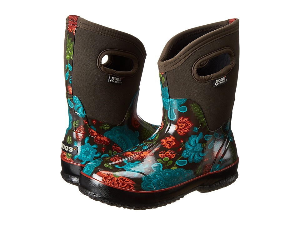 Bogs - Classic Winter Blooms Mid (Chocolate Multi) Women