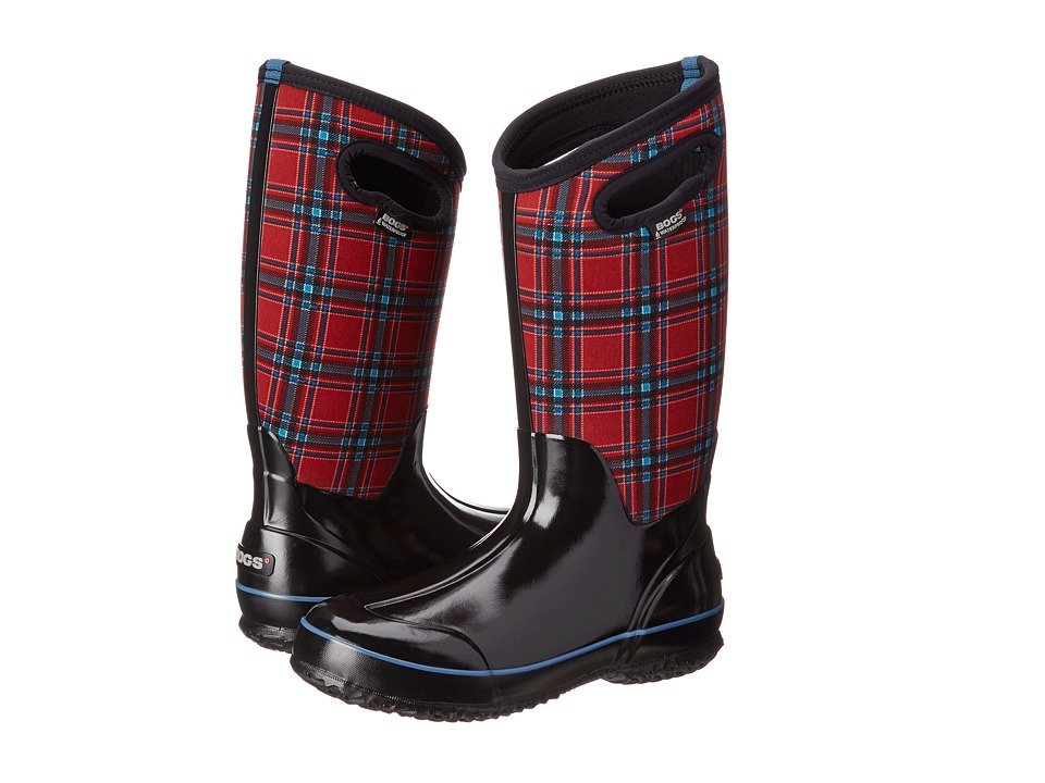 Bogs - Classic Winter Plaid Tall (Red Multi) Women