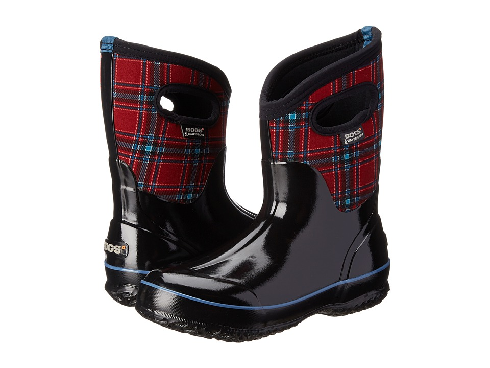 Bogs Classic Winter Plaid Mid (Red Multi) Women