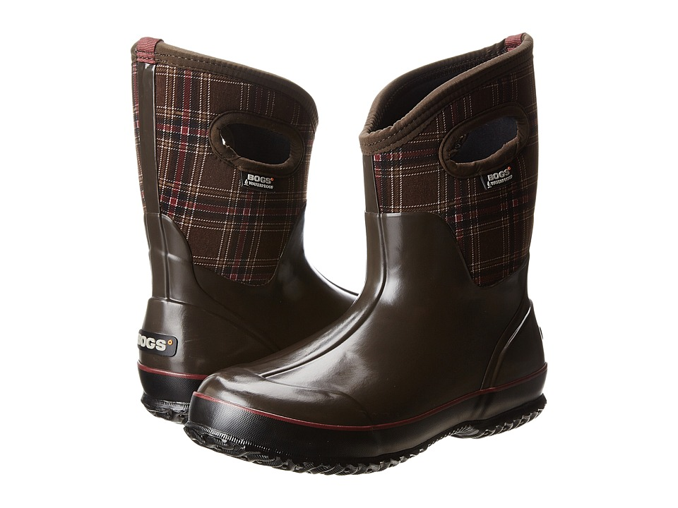 Bogs - Classic Winter Plaid Mid (Chocolate Multi) Women
