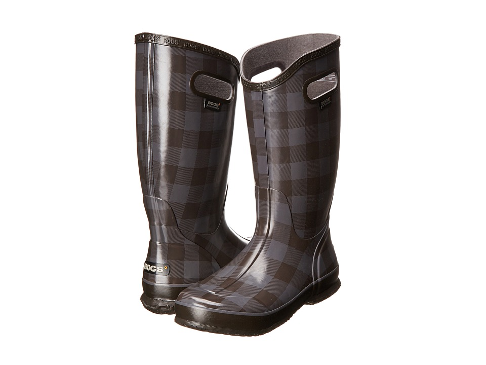 Bogs - Rainboot Buffalo Plaid (Pewter) Women