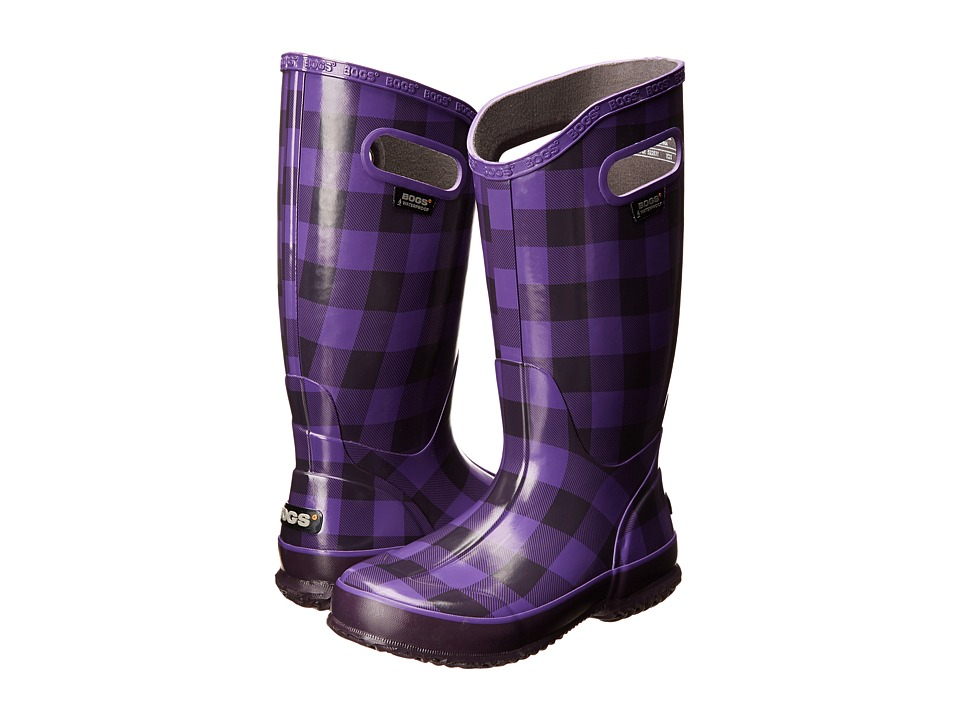 Bogs - Rainboot Buffalo Plaid (Grape) Women