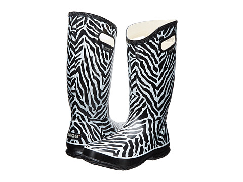 Bogs - Rainboot Animal Prints: Zebra (Black/White) Women's Rain Boots