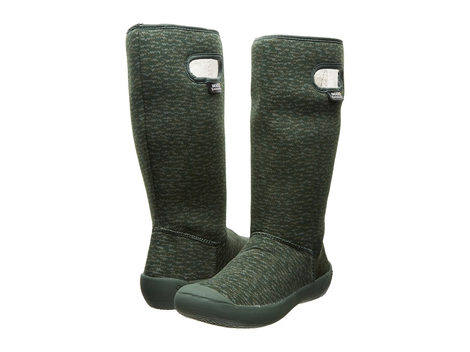 Bogs - Summit Knit (Dark Green) Women's Shoes
