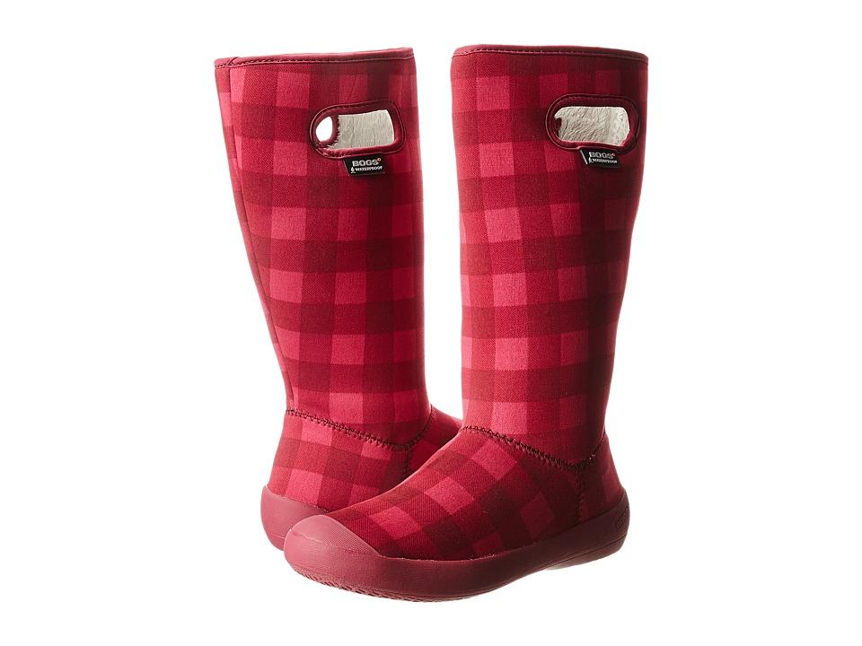 Bogs - Summit Buffalo Plaid (Cranberry) Women's Shoes