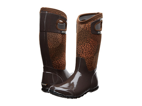 Bogs - North Hampton Floral (Chocolate) Women