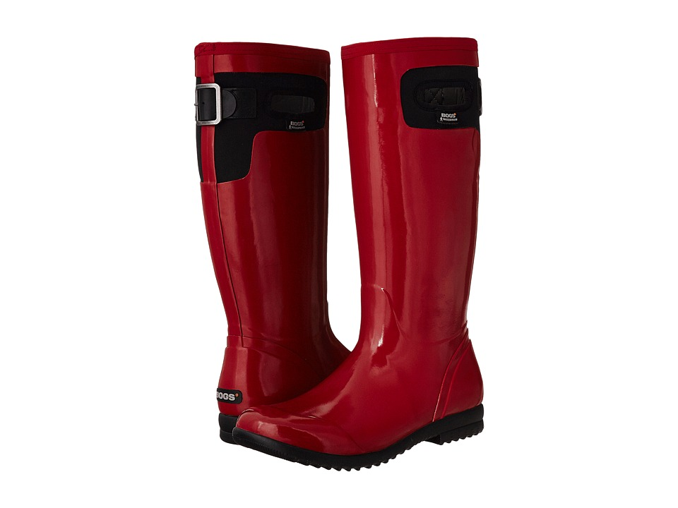 Bogs - Tacoma Solid Tall (Red) Women's Rain Boots