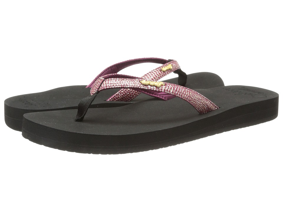 Reef - Star Cushion Sassy (Black/Berry) Women's Sandals