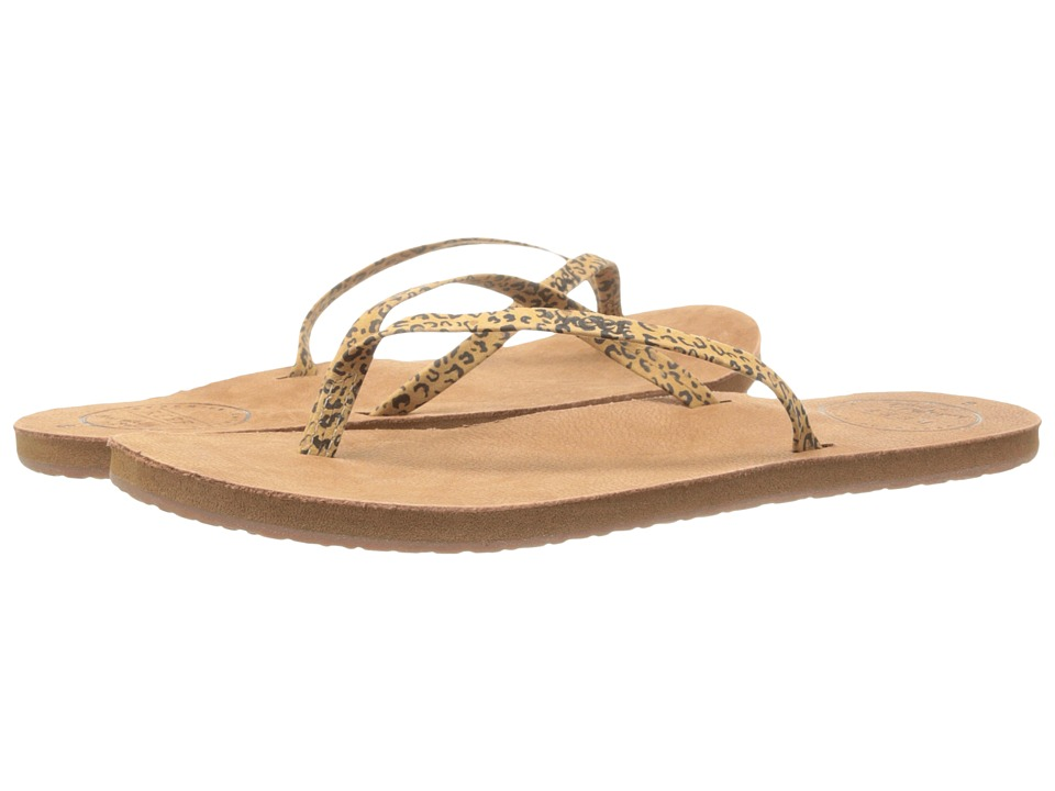 Reef - Leather Uptown Luxe (Leopard) Women's Sandals