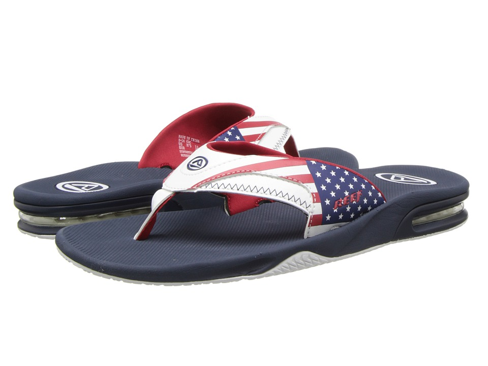 Reef - Fanning Prints (Stars & Stripes) Men's Sandals